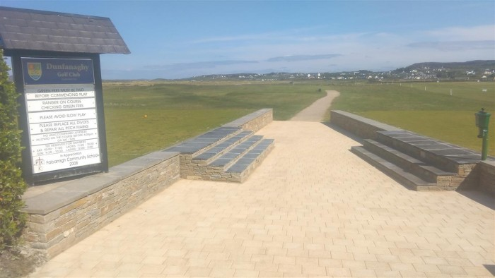 Paving at Dunfanaghy Golf Course by GM Hard Landscapes, Donegal, Ireland