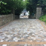 Brick paving on a driveway by GM Hard Landscapes, Donegal, Ireland