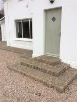 Brick steps by GM Hard Landscapes, Donegal, Ireland